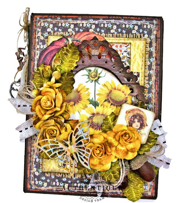 Authentique Pleasant Autumn Trifold Folio Tutorial by Kathy Clement Photo 03