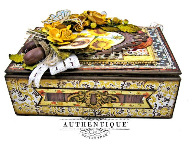 Authentique Pleasant Autumn Trifold Folio Tutorial by Kathy Clement Photo 05