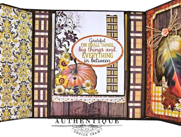 Authentique Pleasant Autumn Trifold Folio Tutorial by Kathy Clement Photo 11
