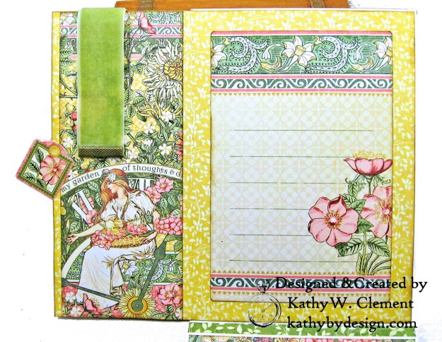 Blooming Beautiful Graphic 45 Garden Goddess Shaker Card by Kathy Clement for Really Reasonable Ribbon Photo  04