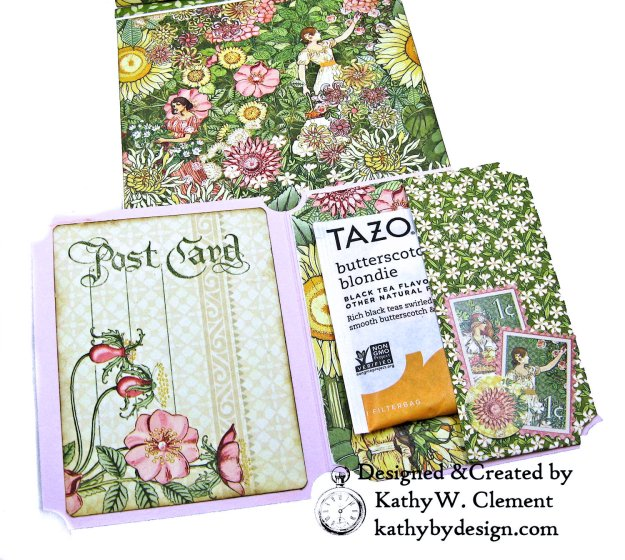 Blooming Beautiful Graphic 45 Garden Goddess Shaker Card by Kathy Clement for Really Reasonable Ribbon Photo  06