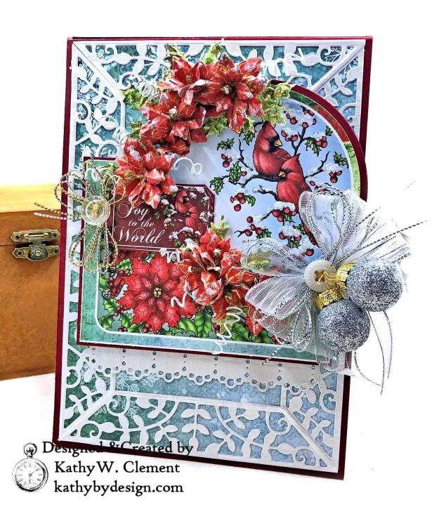 Heartfelt Creations Festive Holly Christmas Card Folio by Kathy Clement Photo 02