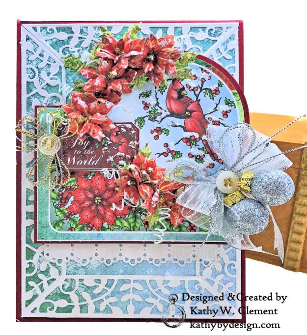 Heartfelt Creations Festive Holly Christmas Card Folio by Kathy Clement Photo 03