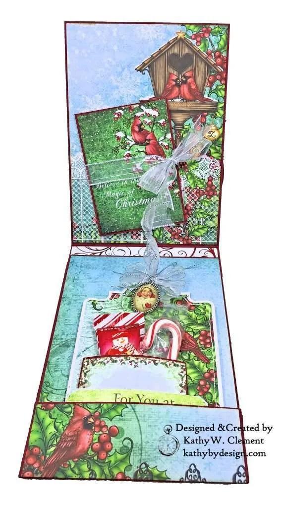 Heartfelt Creations Festive Holly Christmas Card Folio by Kathy Clement Photo 05