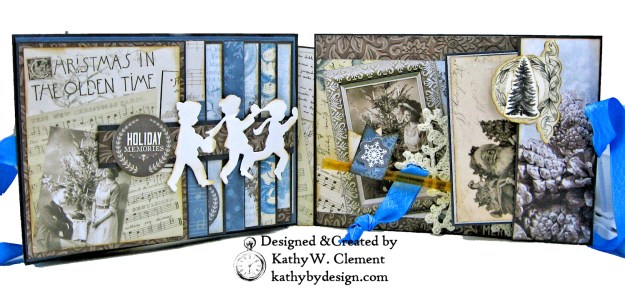 Winter Blues Christmas Folio Kaisercraft Frosted by Kathy Clement for Really Reasonable Ribbon Photo 04