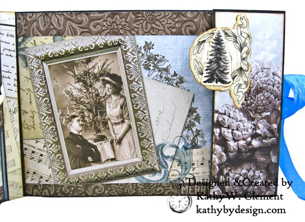 Winter Blues Christmas Folio Kaisercraft Frosted by Kathy Clement for Really Reasonable Ribbon Photo 11
