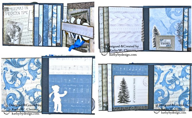 Winter Blues Christmas Folio Kaisercraft Frosted by Kathy Clement for Really Reasonable Ribbon Photo 07