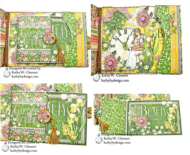 Glorious Graphic 45 Garden Goddess Shine Card Folio by Kathy Clement for The Funkie Junkie Boutique Photo 04