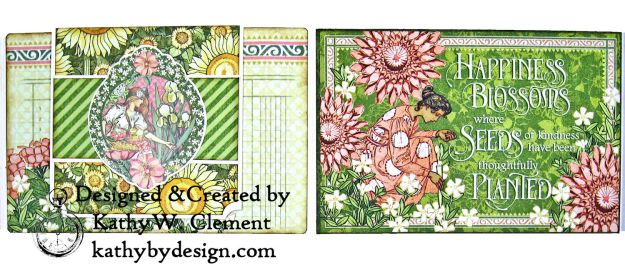 Glorious Graphic 45 Garden Goddess Shine Card Folio by Kathy Clement for The Funkie Junkie Boutique Photo 05