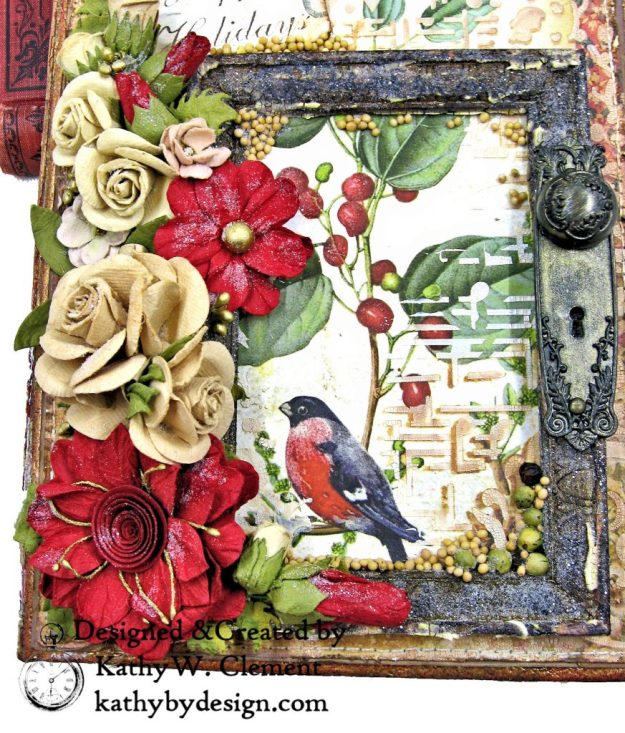 Stamperia Winter Botanic Christmas Box by Kathy Clement for The Funkie Junkie Boutique Photo 05