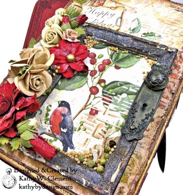 Stamperia Winter Botanic Christmas Box by Kathy Clement for The Funkie Junkie Boutique Photo 07