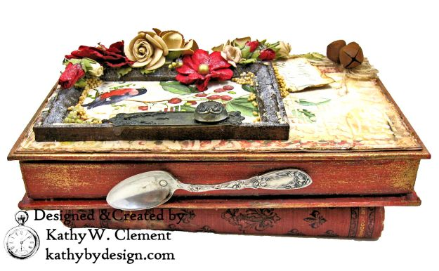 Stamperia Winter Botanic Christmas Box by Kathy Clement for The Funkie Junkie Boutique Photo 02