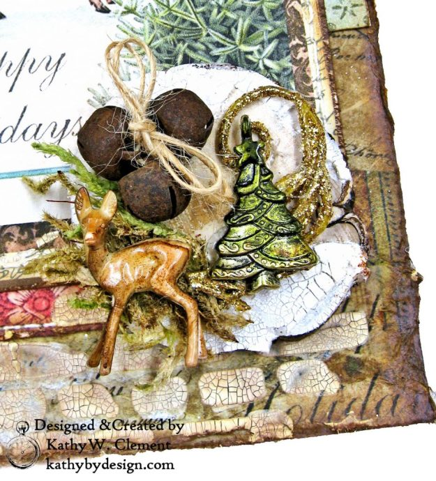 Stamperia Winter Botanic Christmas Box by Kathy Clement for The Funkie Junkie Boutique Photo 10