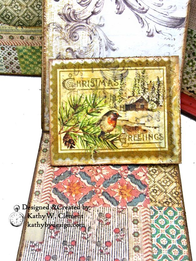 Stamperia Winter Botanic Christmas Box by Kathy Clement for The Funkie Junkie Boutique Photo 15