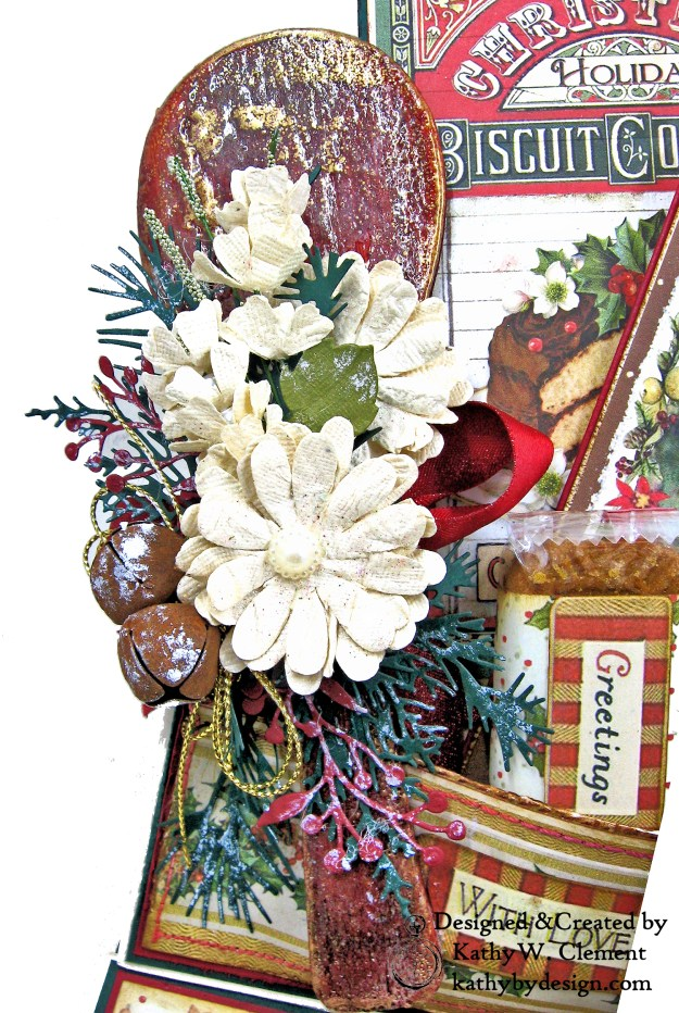 Christmas Kitchen Easel Card Folio by Kathy Clement for The Funkie Junkie Boutique Stamperia Christmas Vintage Photo 05