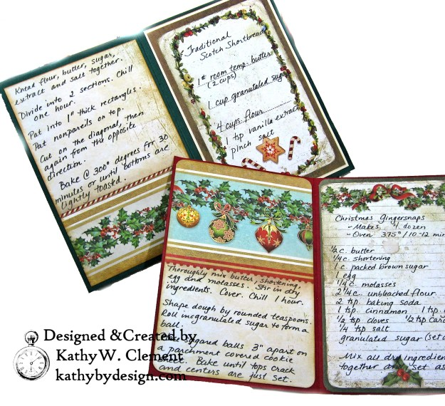Christmas Kitchen Easel Card Folio by Kathy Clement for The Funkie Junkie Boutique Stamperia Christmas Vintage Photo 07