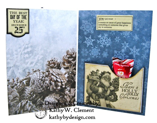Santa Claus is Watching Shaker card Kaisercraft Frosted by Kathy Clement Photo 05
