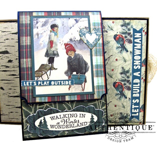 Authentique Solitude Waterfall Folio Tutorial by Kathy Clement Photo 09