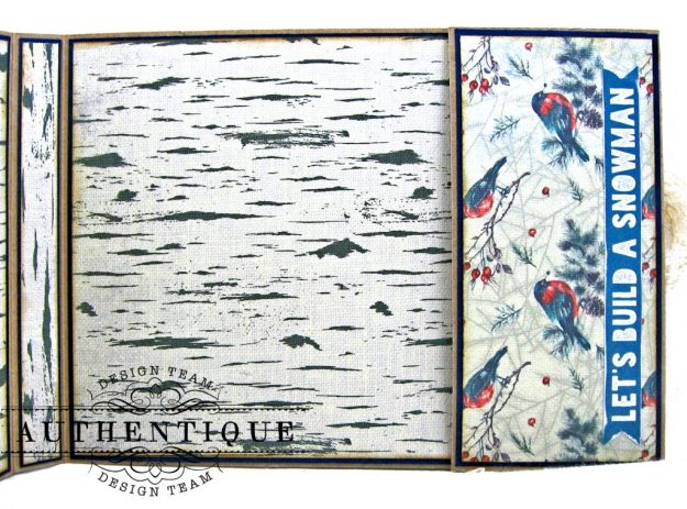 Authentique Solitude Waterfall Folio Tutorial by Kathy Clement Photo 11