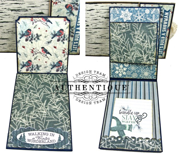 Authentique Solitude Waterfall Folio Tutorial by Kathy Clement Photo 10