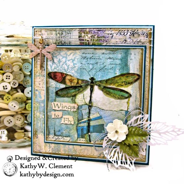 Stamperia Wonderland Twist and Pop Card Tutorial by Kathy Clement Photo 02