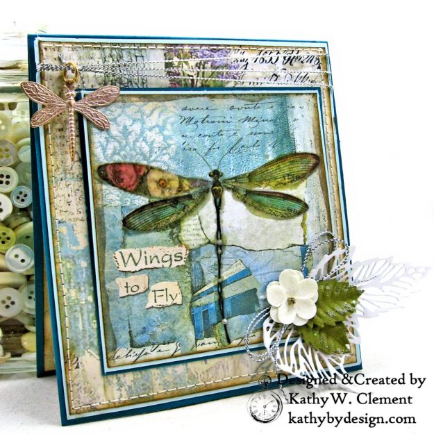 Stamperia Wonderland Twist and Pop Card Tutorial Kathy Clement Kathy by Design Photo 03