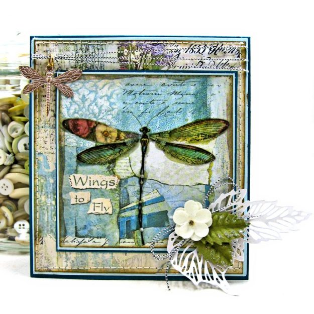 Stamperia Wonderland Twist and Pop Card Tutorial Kathy Clement Kathy by Design Photo 01