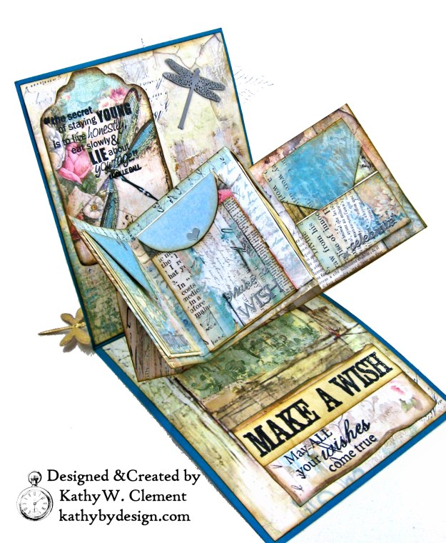 Stamperia Wonderland Twist and Pop Card Tutorial Kathy Clement Kathy by Design Photo 06