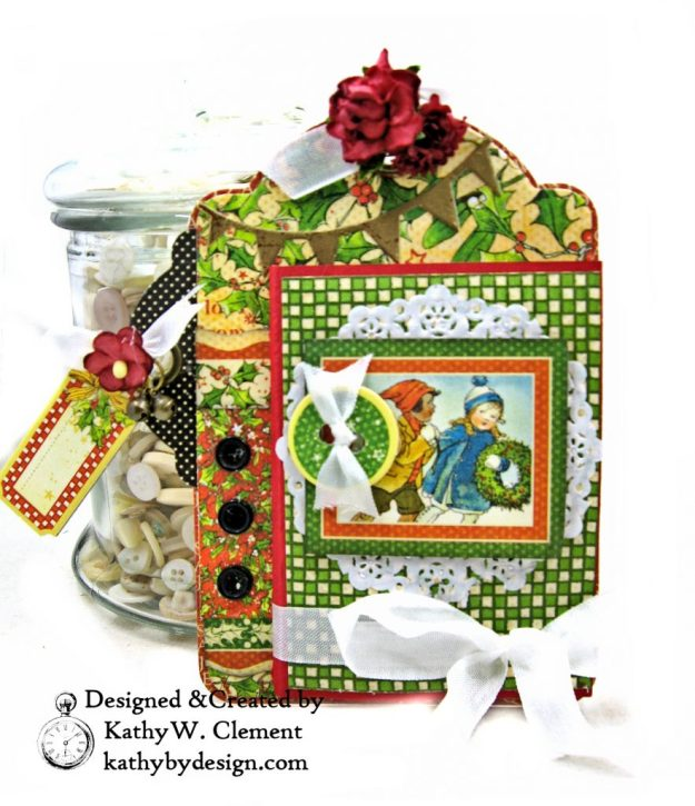 #G45Tags Graphic 45 Christmas Magic Gift Card Tags Tutorial by Kathy Clement Kathy by Design Photo 09