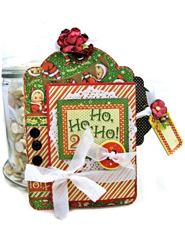 #G45Tags Graphic 45 Christmas Magic Gift Card Tags Tutorial by Kathy Clement Kathy by Design Photo 04