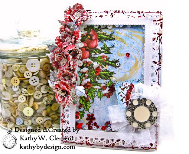 Heartfelt Creations Festive Holly Shaker Card Folio by Kathy Clement Photo 01