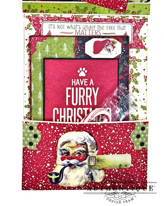 Authentique Nostalgia Meowy Christmas Card Folio by Kathy Clement for Really Reasonable Ribbon Photo 05