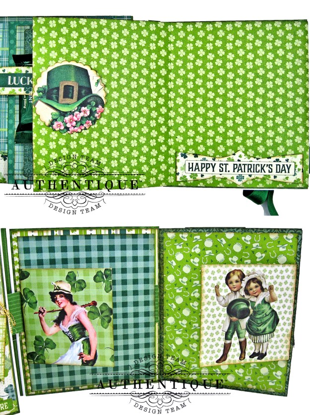 Authentique Clover Folio Tutorial Pull Out Pages Kathy Clement