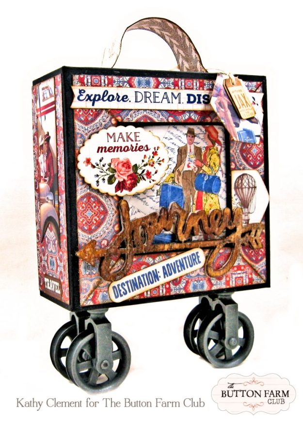 Authentique Quest Rolling Photo Box by Kathy Clement for The Button Farm Club Photo 01