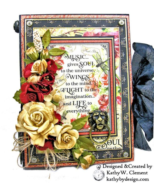 Graphic 45 Love Notes Trifold Tag and Pocket Folio by Kathy Clement Kathy by Design Photo 01