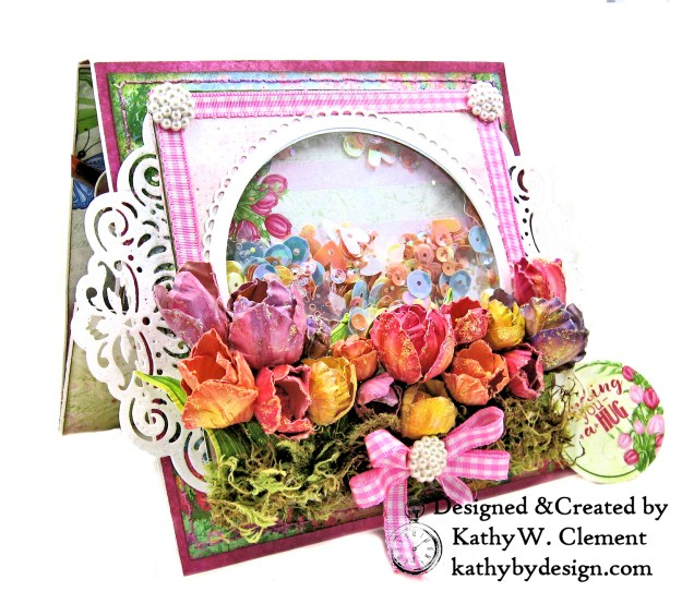 Heartfelt Creations Tulip Time Shaker Card by Kathy Clement for the Heartfelt Creations Alumni Hop photo 02