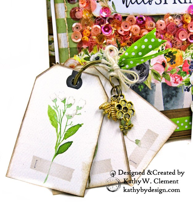 Carta Bella Spring Market Shaker Card Folio by Kathy Clement for Really Reasonable Ribbon Photo 02