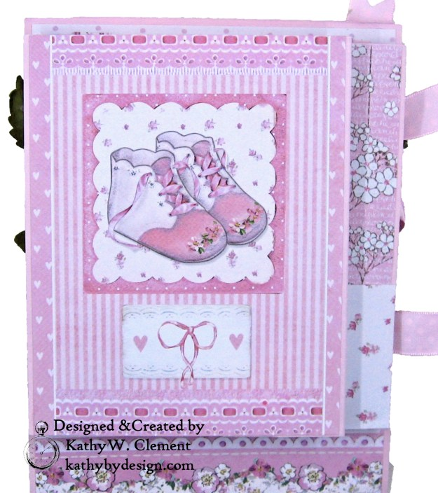 Stamperia Baby Girl Shaker Card by Kathy Clement Kathy by Design for Really Reasonable Ribbon Photo 04