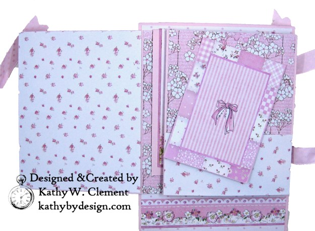 Stamperia Baby Girl Shaker Card by Kathy Clement Kathy by Design for Really Reasonable Ribbon Photo 05