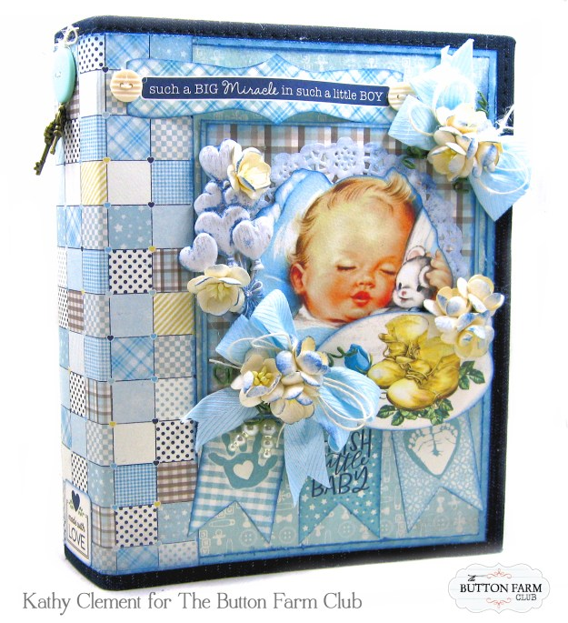 Authentique Swaddle Boy Mini Album Kit by Kathy Clement Kathy by Design for The Button Farm Club Photo 01
