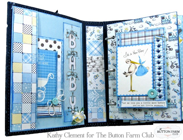 Authentique Swaddle Boy Mini Album Kit by Kathy Clement Kathy by Design for The Button Farm Club Photo 03