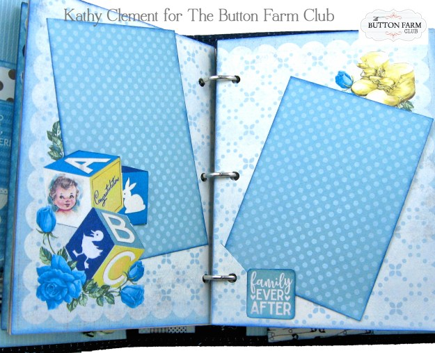 Authentique Swaddle Boy Mini Album Kit by Kathy Clement Kathy by Design for The Button Farm Club Photo 04