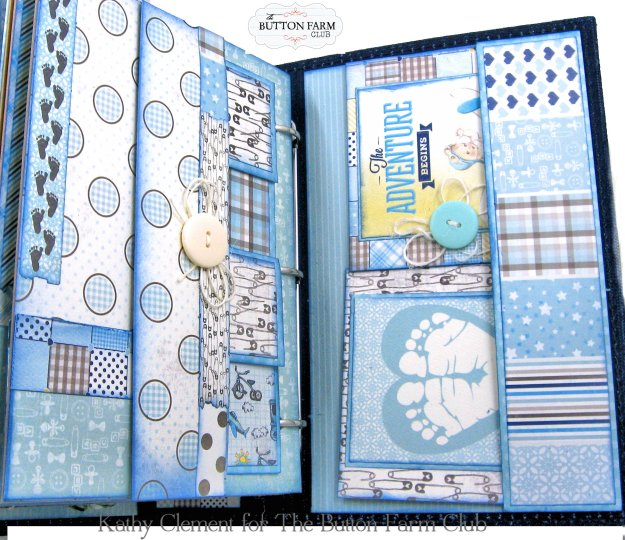 Authentique Swaddle Boy Mini Album Kit by Kathy Clement Kathy by Design for The Button Farm Club Photo 06