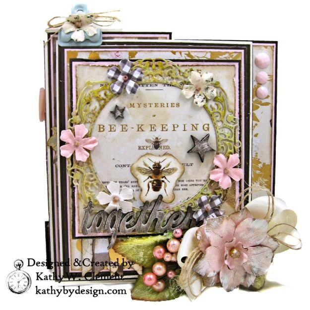 Prima Spring Farmhouse Beekeeper Gift Box Folio Tutorial by Kathy Clement Kathy by Design for The Funkie Junkie Boutique Photo 01