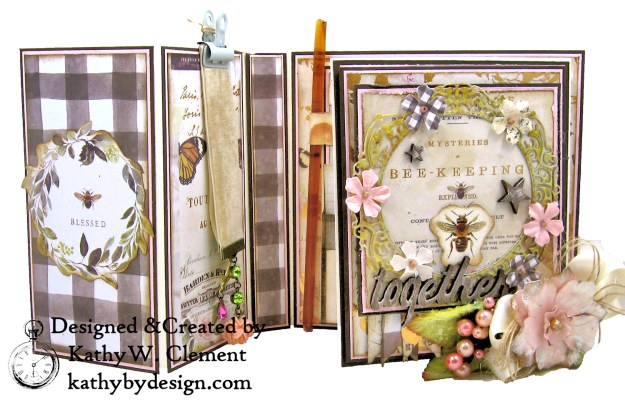 Prima Spring Farmhouse Fancy Fold Folio Kathy by Design