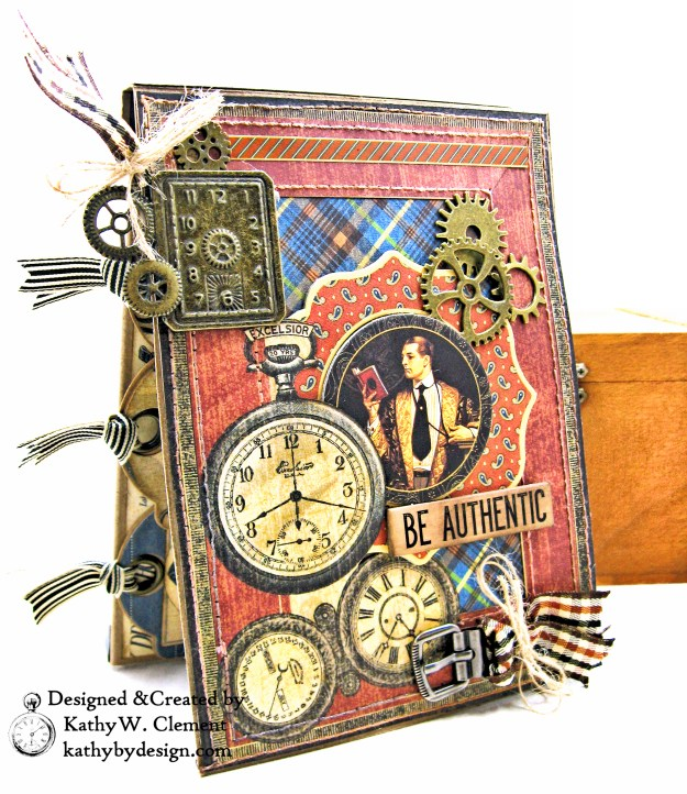 Graphic 45 A Proper Gentleman Card Folio by Kathy Clement for The Funkie Junkie Boutique Photo 02