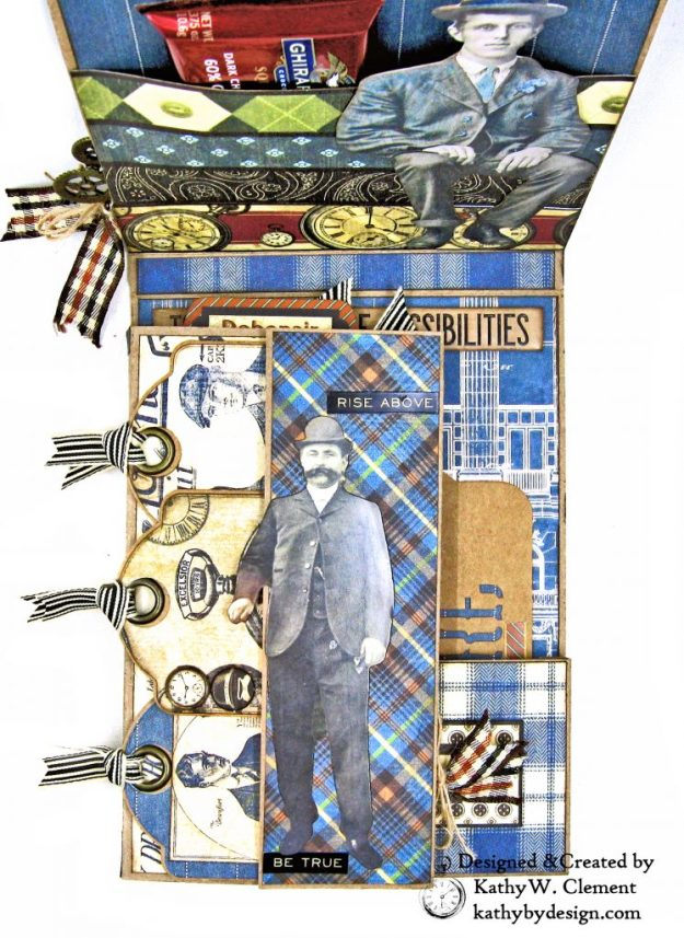 Graphic 45 A Proper Gentleman Card Folio by Kathy Clement for The Funkie Junkie Boutique Photo 04