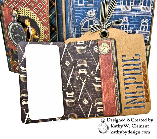 Graphic 45 A Proper Gentleman Card Folio by Kathy Clement for The Funkie Junkie Boutique Photo 09