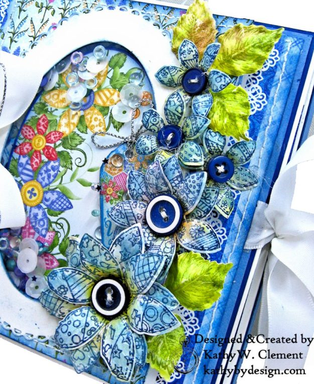 How to Make Heartfelt Creations Buttons and Blooms Flowers by kathy Clement