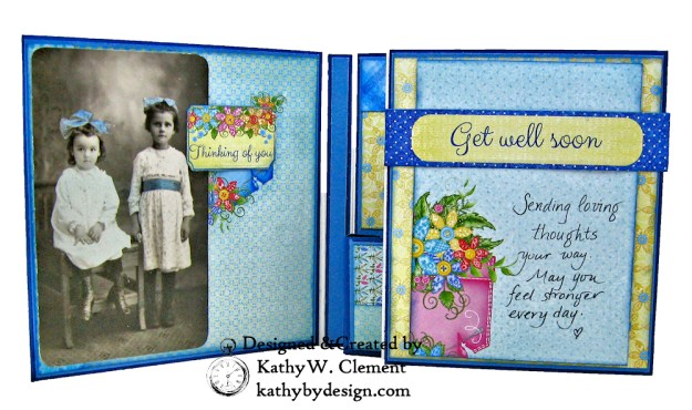 Buttons and Blooms Shaker Folio by Kathy Clement for the Heartfelt Creations February 2019 Alumni Hop